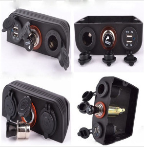 12V-24V Tented Dual USB Car Charger, Cigarette Lighter Sockets, Power Socket for Cars and Boats pictures & photos