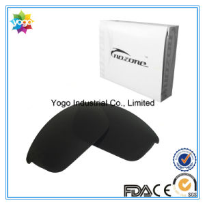 Stealth Black Replacement Lens for Oakley Flak Jacket