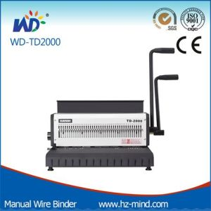 Manual Wire Binding Machine (WD-TD2000) pictures & photos
