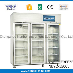 Pharmacy Hospital Glass Door Upright Medical Refrigerator pictures & photos