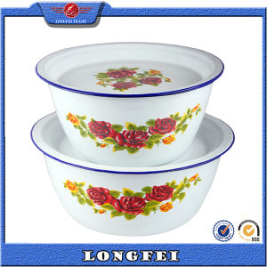 White Color and Decal Metal Water Bowl for Washing Hand pictures & photos
