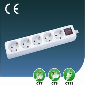 Four Ways EU Outlet Electrical Socket with Switch pictures & photos