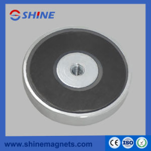 Thread Hole Pot Magnet Ferrite Round Base Magnets pictures & photos