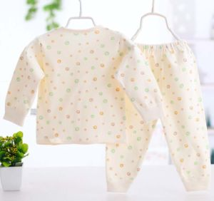 100% Cotton Baby Infant Underwear Set Long Sleeve Pants Clothes pictures & photos
