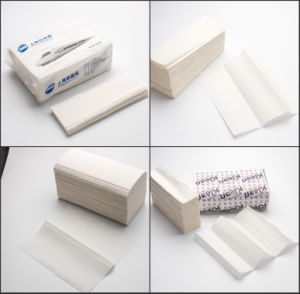 Absorbent Brown and White Hand Roll Paper Towel pictures & photos