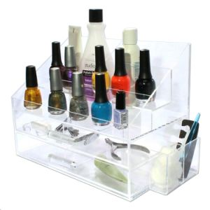 Acrylic Clear 2 Tier Lipstick Cosmetic Organizer pictures & photos