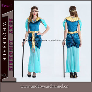 Carnival Halloween Adult Party Egyptian Queen Princess Cosplay Costume (TLQZ1647) pictures & photos