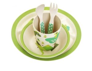 (BC-CS1078) Hot-Sell Natural Bamboo Fiber Dinner Set for Kids pictures & photos