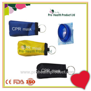 First Aid Use Disposable Pocket CPR Mask with Keychain pictures & photos