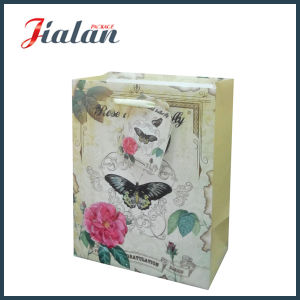 Nature Style Flowers & Buttlefly Design Shopping Carrier Gift Paper Bag pictures & photos