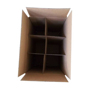 Free Sample 6 Packs Cardboard Wine Bottle Box with Inner Divider pictures & photos