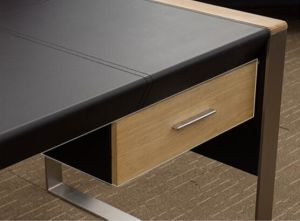 Modern Furniture Wooden Leather Office Desk (V30A) pictures & photos