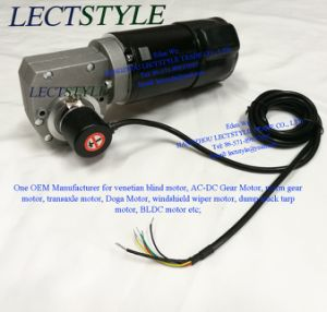 48V 130W 55rpm PMDC Worm Gear Motor on Robot Welding Machine pictures & photos