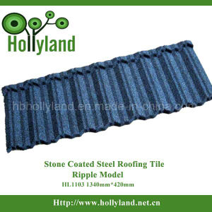 Roofing Material Stone Chips Coated Steel Roofing Tile (Ripple Tile) pictures & photos