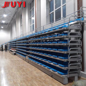 Outdoor Football Metal Frame HDPE Plastic Retractable Bleacher Blow Molding UV Fading Used Sport Seats pictures & photos
