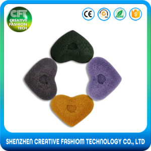 Free Sample 100% Organic Heart Shape Facial Cleaning Konjac Sponge pictures & photos