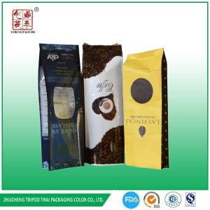 2.2lb Laminated Material Aluminum and Heat Seal Sealing Side Gusset Coffee Packaging Bag