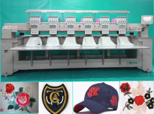 Multi Head Computerized Embroidery Machine with 9 Needles for Flat and Cap Embroidery