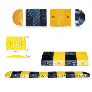 Reflective Driveway Road Safety Rubber Speed Bump Pjsh101