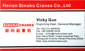 Single Beam Overhead Crane with Electric Hoist Lifting Machinery pictures & photos