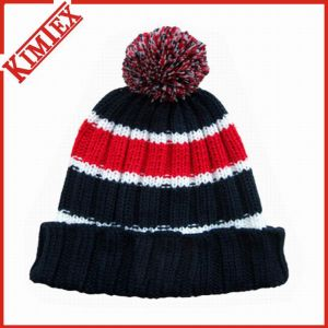 Customize Acrylic Jacquard Crochet POM POM Hat pictures & photos