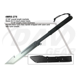 "27.56"" Overall Black Blade Machete with Nylon Fiber Handle pictures & photos"