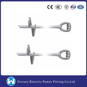 Galvanized Forged Triple Eye Shaft Screw Anchor Ground Scew Anchor pictures & photos