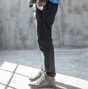 Spring Autumn Pencil Custom Slim Fashion Leisure Plain Men′s Jeans Trousers pictures & photos