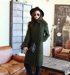 2015 New Autumn Winter Trench Coat Women Army Casual Long Oversize Wool Jacket European Fashion Overcoat Plus Size 3xl pH1697 pictures & photos