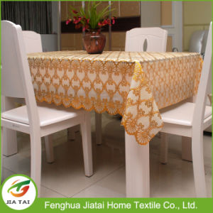 Lace Plastic Tablecloth Custom Printed Plastic Tablecloth pictures & photos