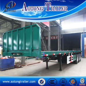China Golden Supplier 40FT Flatbed Container Trailer for Sale pictures & photos