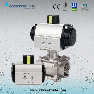 Pneumatic 3PC Ball Valve with Thread End pictures & photos