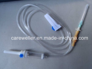 Disposable IV Giving Infusion Set with Needle pictures & photos
