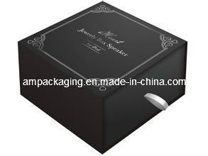High Quality Black Paper Luxury Gift Slip Case Apparel Box pictures & photos