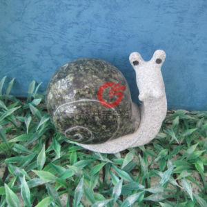 Stone Snail Sculpture