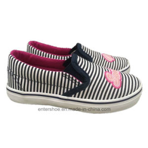 Slip on Striped Canvas Kids Shoes (ET-LD170466K) pictures & photos