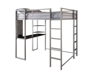 Full Size Loft Bed/Metal Loft Bunk Bed with Wood Desk pictures & photos