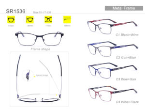Popular Wholesale Stock Eyewear Eyeglass Optical Metal Frame Sr1536 pictures & photos
