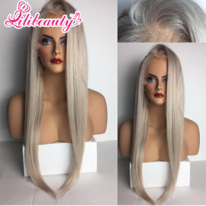 High Quality Long Straight Human Hair Lace Front Wig pictures & photos