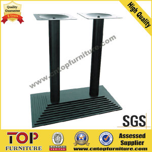 Rectangular Top Steel Leg Restaurant Table pictures & photos
