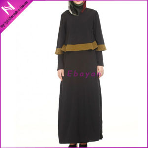2015 New Design Two Piece Abaya Muslim Long Dress