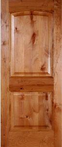 Knotty Alder 2-Panel Arched Composite Door pictures & photos