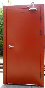 New Style with Window Glass Design Fireproof Steel Door pictures & photos