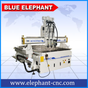 Ele 1325 Pneumatic System Three Spindle Wood CNC Router, Woodworking CNC Router for Door Making pictures & photos