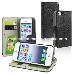 Wallet Leather Case for iPhone 5/5s (JK-IPH5-B-04) pictures & photos
