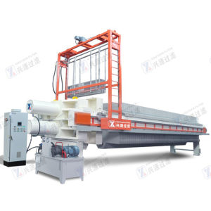 Filter Press with Over Head High Pressure Water Cleaning System