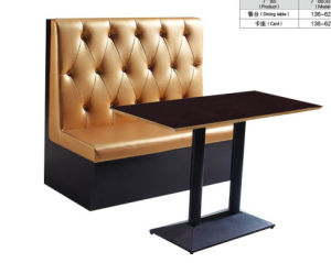 Beige Modern Chesterfield Restaurant Bistro Seat Booth Furniture (FOH-CBCK13) pictures & photos
