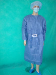 SMS Reinforced Surgical Theater Gown with High Quality pictures & photos