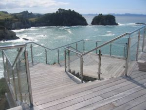 Factory Aluminum Railing Prices Stainless Steel Handrail Outside Balustrades pictures & photos