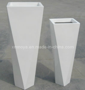 High Quality Glossy Fiberglass Flower Pot for Garden Decorative pictures & photos